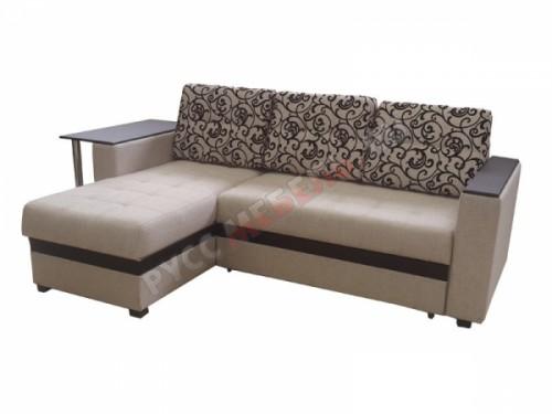 Угловой диван «Атланта» (склад, беж. флок)