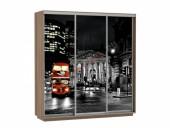 Шкаф-купе «Фото Трио ФФФ 180» ясень шимо темный (Лондон)