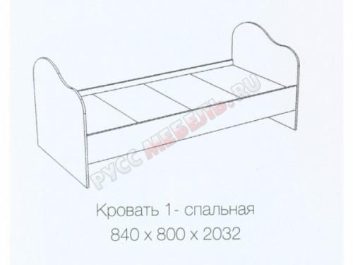 Кровать1-спальная «Радуга»