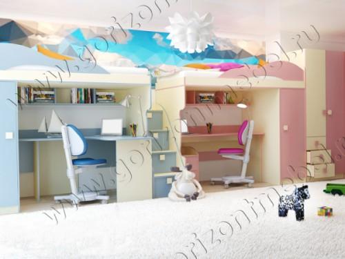 Детская комната «Радуга» (комплект 3)