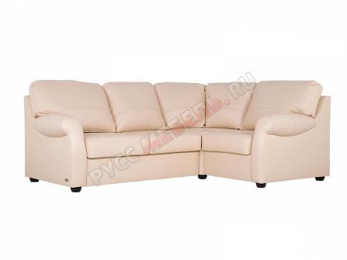 Кожаный угловой диван «Честерфилд» (кожа Канвас)