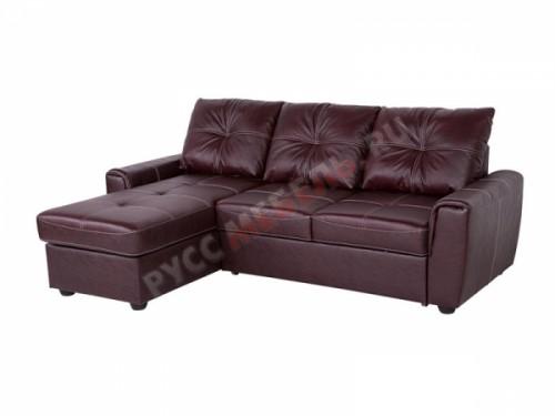 Кожаный угловой диван «Манчестер» (кожа Оксблуд)