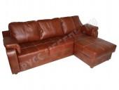 Кожаный угловой диван «Берета» (кожа Eichel)