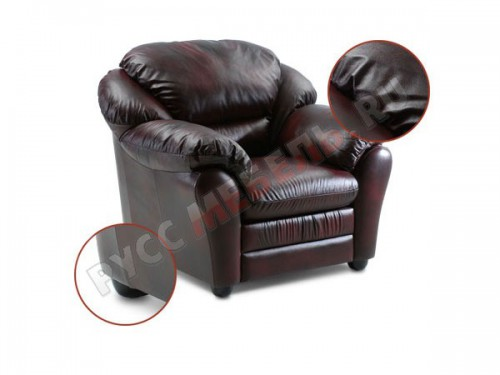 Кожаное кресло для отдыха «Берг»