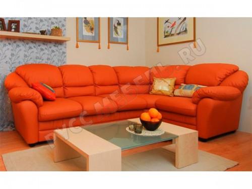 Угловой диван «Берг» из натуральной кожи: