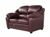 Кожаный диван 2-ка «Берг» (кожа Oxblood)