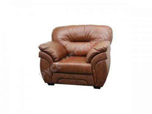Диван комплектуется креслом - натуральная кожа Dizaro: