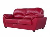 Кожаный диван «Эвита» (кожа Bellagio Scarlett Red)