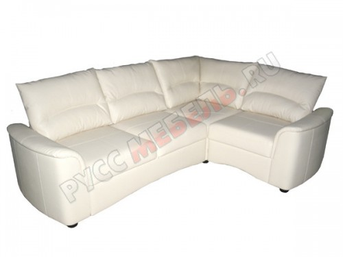 Кожаный угловой диван «Фиджи с тумбой»
