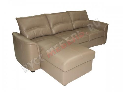 Кожаный угловой диван «Фиджи» (с канапе)