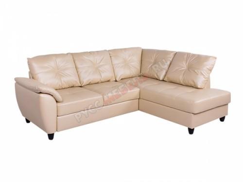 Кожаный угловой диван «Николь» с канапе
