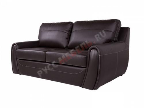 Кожаный  диван «Верона» (кожа Белладжио Мокка)