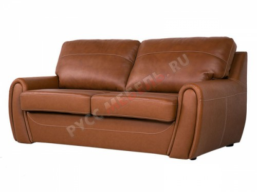 Кожаный  диван «Верона» (кожа Белладжио Нат)