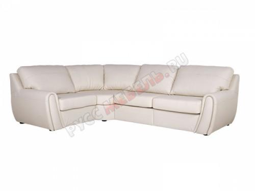Кожаный угловой диван «Верона» (кожа Мадрас Сноу)