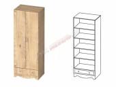 Детская «Карамель» шкаф 2-х дверный с ящиком КА-05