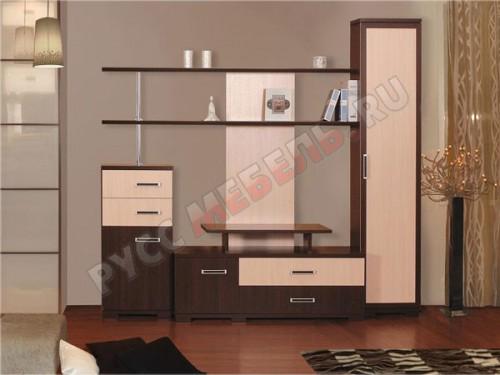 Возможны различные варианты набора модулей стенки: