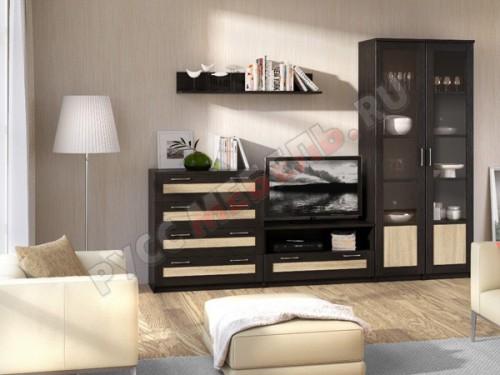 Модульная гостиная «Сэндай - 3 к»