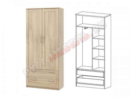 Сэндай С-24 шкаф комбинированный с ящиками