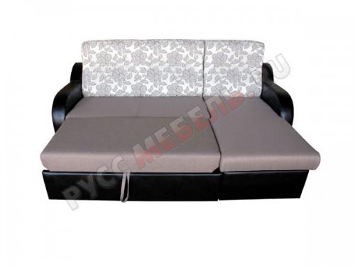 Фото углового дивана в разложенном виде: