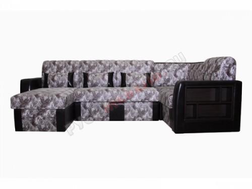 Угловой диван «Елена-01» + оттоманка (на заказ)