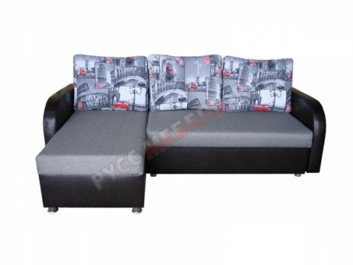 Угловой диван еврокнижка «Вика-10 ШП» (на заказ)