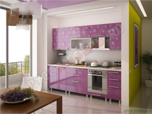 Кухня модульная «Анастасия Тип 3 фиолетовая»