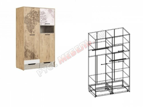 Шкаф для одежды «Дублин Стоун № 10»