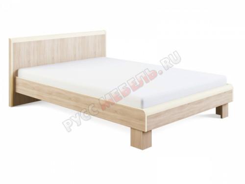 Кровать «Оливия №1» (140х200) с жёсткой спинкой