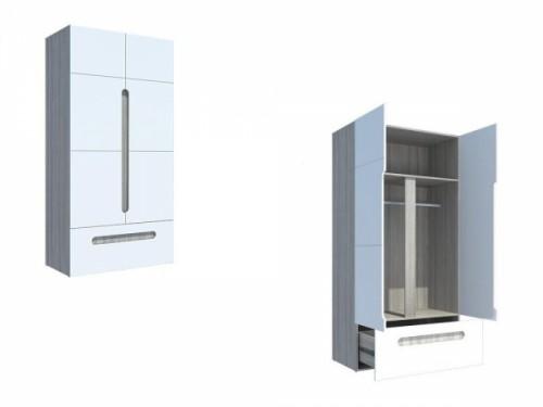 Шкаф 2-х створчатый с ящиком «Палермо»: