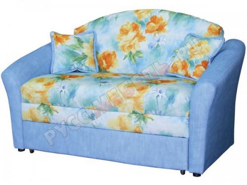 Детский диван «Дюймовочка» с более широкими подлокотниками