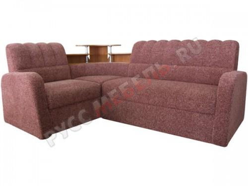 Угловой диван «Парнас 2» отличается иным исполнением царги дивана и подлокотников