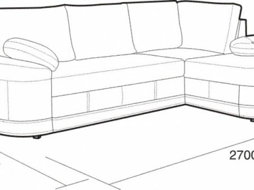 Размеры углового дивана: