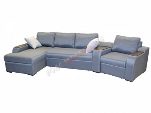 Модульный диван угловой «Престиж» (оттоманка+кресло)