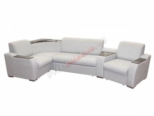 Модульный диван угловой «Рио» (с полкой)
