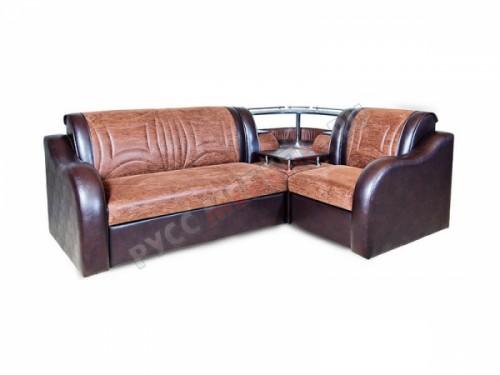 Угловой диван «Венеция» (иск. замша корк беж, склад)