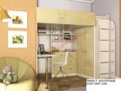 Кровать-чердак «Бемби-3 МДФ» (золотой)