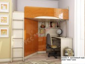Кровать-чердак «Бемби-4 МДФ» (оранжевый)