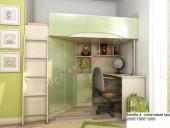 Кровать-чердак «Бемби-4 МДФ» (салатовый)