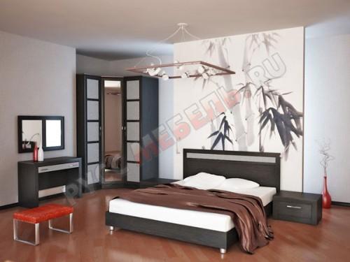 Цвет фасадов спальни: Риффле
