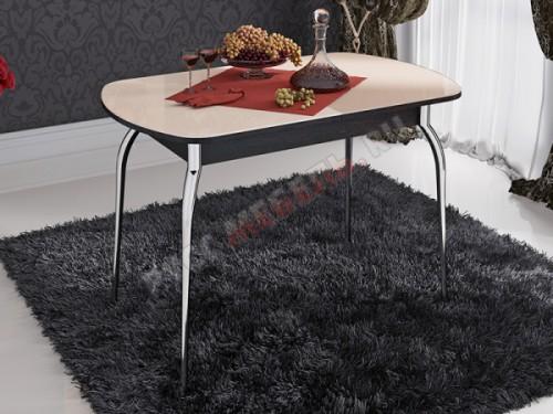 Стол обеденный раздвижной «Милан со стеклом»