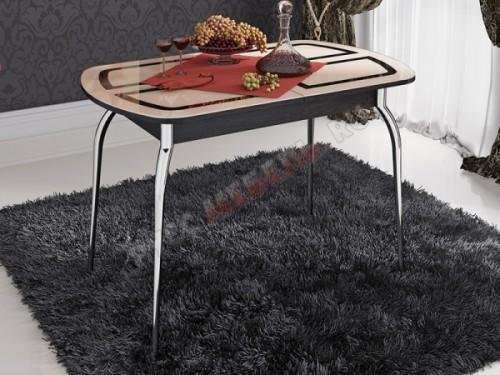 Стол обеденный раздвижной «Милан со стеклом»: