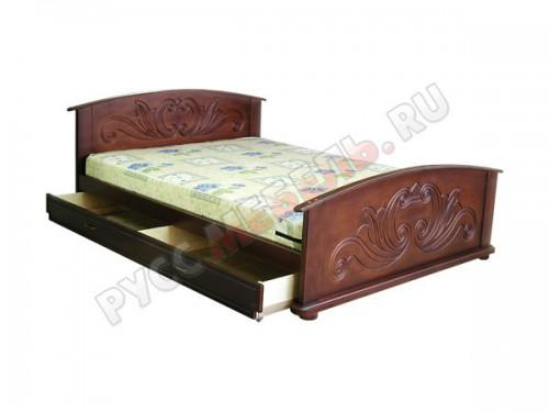 По желанию заказчика, кровать комплектуется вместительным ящиком для белья: