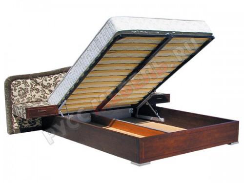Вместительный ящик для белья под спальным местом: