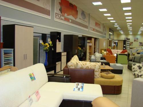 Мягкая и корпусная мебель производства Нижний Новгород в салоне Руссмебель на втором этаже Мегаторга