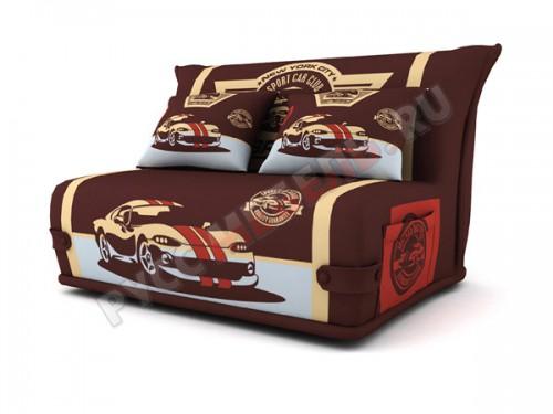 Диван аккордеон в купонной ткани: