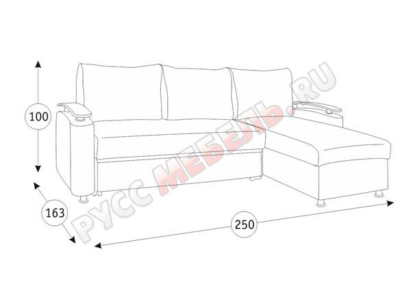 Угловой диван «Оникс-3»